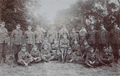 photo originally published in the Retford Times on 18th September 1914 shows No 3 Troop 'A' Squadron Sherwood Rangers Yeomanry Ralph Cooper is standing on the top row 5th from the left , photo courtesy of the Misterton and West Stockwith history group.