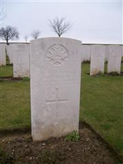 Thomas is buried in Ovillers Military Cemetery, Somme - grave I. B. 26.