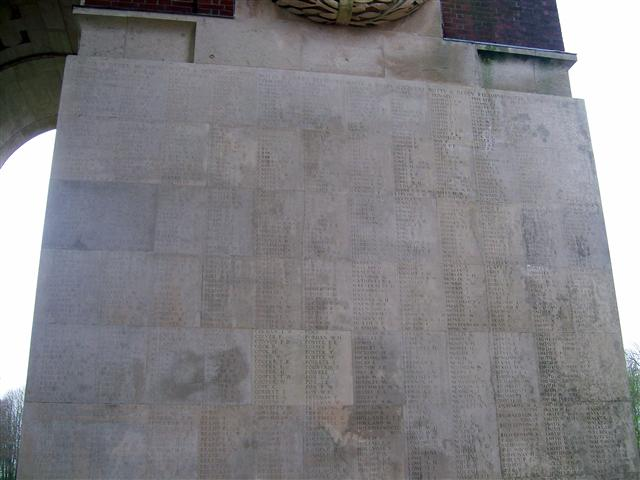 16826 Private William Ellis, killed in action on 26/9/1916. Commemorated on Thiepval Memorial.
