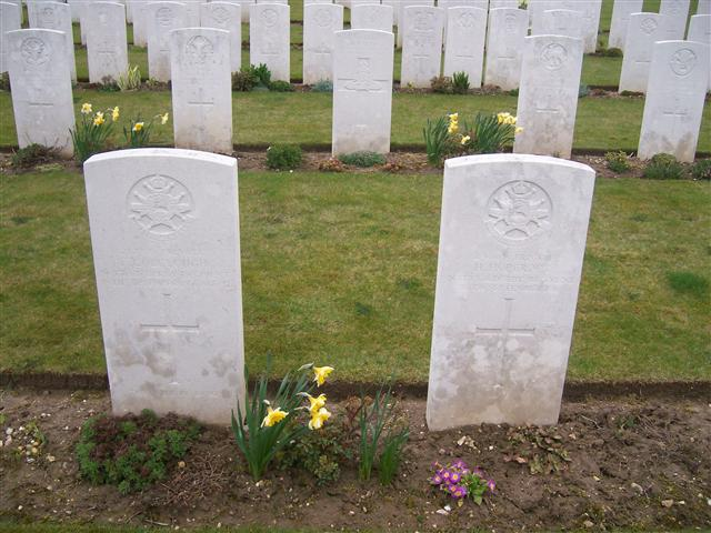 24669 Private Herbert Hopcroft killed in action and buried Ovillers  Military Cemetery, Somme, grave I.C.19. Visited and cross laid by John Morse