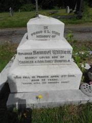 Family grave of Bunfield family commemorating Samuel Wiliam Bunfield in Kirkby cemetery 