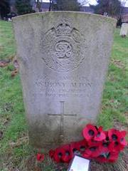 Commonwealth war grave headstone marking the grave of Anthony Alton in Nottingham Northern Cemetery.