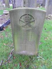 Commonwealth war grave headstone marking the grave of William Henry Lowe at Nottingham Northern Cemetery .