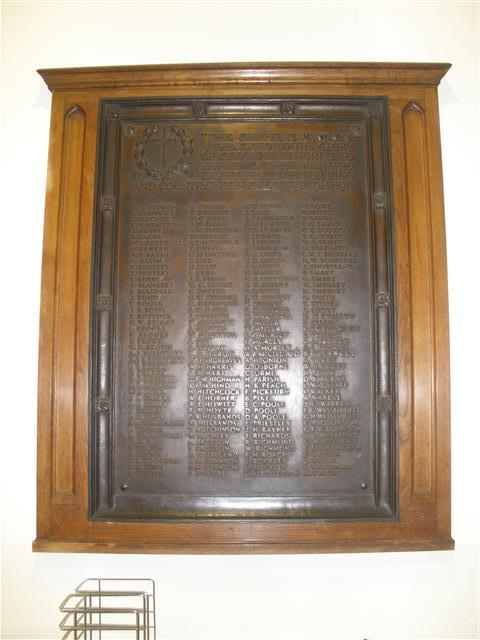Memorial which was formerly in the Lady Chapel and is now at the west entrance to the church.