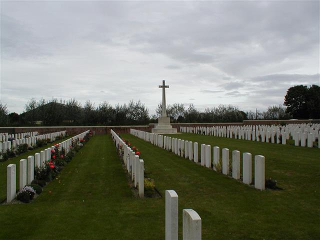 12568 Corporal Thomas Milner was killed in action on 11 March 1917 and was buried in this cemetery, grave I.M.44. Visited, photo taken and wreath laid by John Morse
