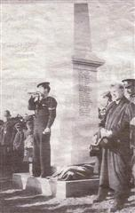 The unveiling of Eastwood War Memorial on Easter Sunday 1921. It was originally located in Eastwood Cemetery.