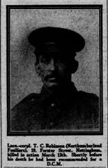 Taken from Nottingham Post dated 26th April 1916.