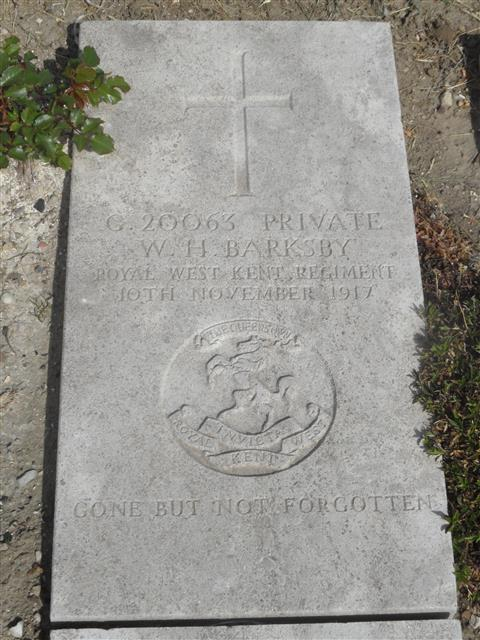 Buried in Wimereux Communal Cemetery. Photo by Murray Biddle