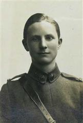 This photo shows Llewellyn Evans in his Royal Flying Corp Uniform.