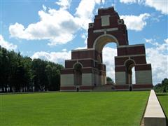 The Thiepval Memorial upon which Frank Fletcher Fidler's name appears along with nearly 73,000 men who bodies were never recovered or identified during the Battles of the Somme 1916 18.