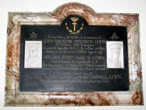 This plaque in St Nicholas Church, Eydon commemorates 
