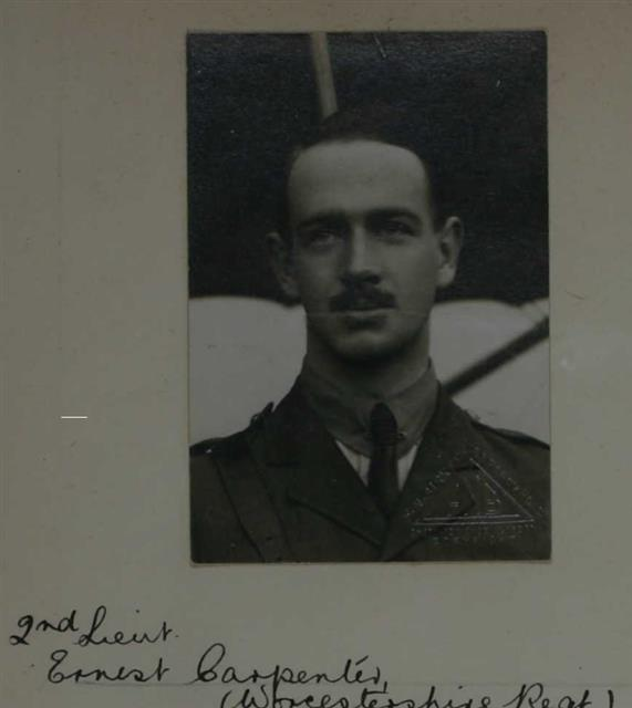 This is a copy of Ernest Carpenters photo on his Royal Aero Club Aviators certificate