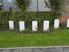 This photo shows Ypres Town Cemetery, Belgium.