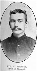 Pte Francis Green Procter, Royal Marines Light Infantry. 