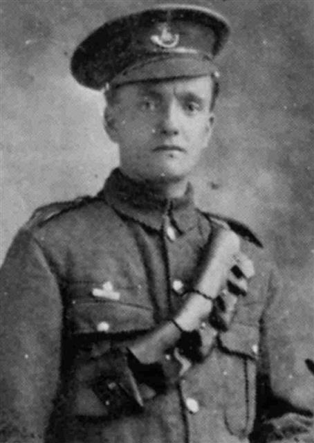 Trooper P C Biffin of the Dragoon Guards.