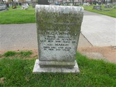 Family grave situated in Worksop (Retford Road ) cemetery commemorating the death of George Alfred Pennington. Photo taken by Peter Gillings