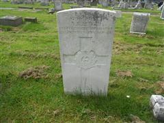 Photo showing commonwealth war grave headstone marking the grave of Alfred R Ledger in Worksop (Retford Road ) Cemetery Photo taken by Peter Gillings