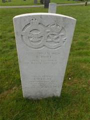 Commonwealth wargrave headstone marking the grave of Joseph Wright at The General Cemetery , Nottingham 