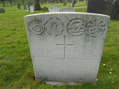 Commonwealth wargrave headstone marking the grave of Charles Barton at The General Cemetery, Nottingham 