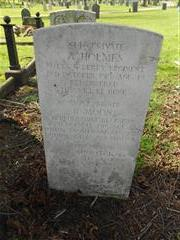 Commonwealth wargrave headstone marking the grave of Albert Holmes situated at The General Cemetery, Nottingham 