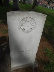 Commonwealth wargrave headstone marking the grave of Harry Dutton situated at The General Cemetery , Nottingham. Courtesy of Peter Gillings