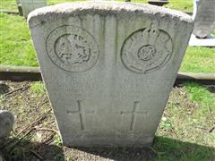 Commonwealth wargrave headstone marking the grave of Thomas Lambert  situated at the General Cemetery, Nottingham Courtesy of Peter Gillings