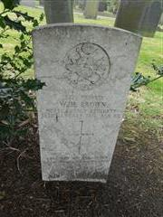 Commonwealth wargrave headstone marking the grave of William Henry Brown situated at the General Cemetery, Nottingham Courtesy of Peter Gillings