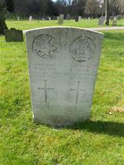 Commonwealth wargrave headstone marking the grave of Wallace Keetley situated at The General Cemetery, Nottingham 