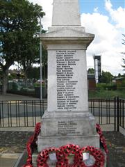 Memorial for all of the servicemen from Eastwood area who fell during the Great War.