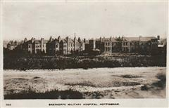 Bagthorpe Military Hospital (formerly Bagthorpe Hospital) where Samuel worked as a orderly.  Contemporary postcard courtesy of L Gadd.