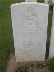 Commonwealth war grave headstone, marking the grave at Caterpillar valley cemetery, Longueval, Somme, France. Courtesy of Murray Biddle