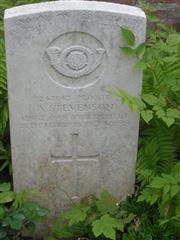 Commonwealth War Grave Commission headstone marking his grave at Aveluy Wood Cemetery (Lancashire Dump), Mesnil-Martinsart, Somme, France. Photograph courtesy of Murray Biddle