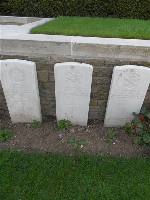 Commonwealth War Graves Commission headstone marking his grave at Connaught Cemetery, Thiepval courtesy Murray Biddle