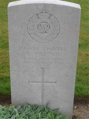 Commonwealth war grave headstone marking his grave at Bienvillers Military Cemetery, Pas de Calais, France. Courtesy of Murray Biddle