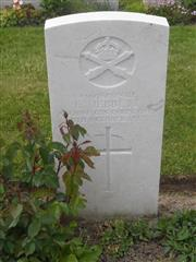 Commonwealth War Graves Commission headstone marking his grave in Tyne Cot Cemetery, Belgium Courtesy of Murray Biddle