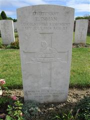 Buried in Bapaume Post Military Cemetery.