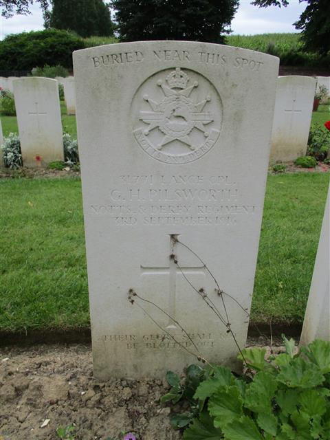 Buried in Ancre British Cemetery.