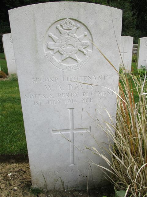 Buried in Blighty Valley Cemetery.