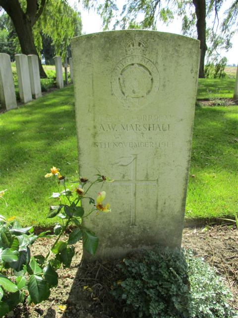 Buried in Le Trou Aid Post Cemetery.