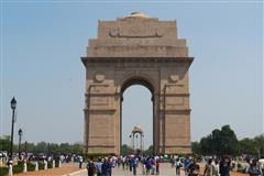 Delhi Memorial (India Gate) designed by Sir Edward Lutyens and unveiled in 1931.'Of the 13,300 Commonwealth servicemen commemorated by name on the memorial, just over 1,000 lie in cemeteries to the west of the River Indus, where maintenance was not possible. The remainder died in fighting on or beyond the North West Frontier and during the Third Afghan War, and have no known grave. The Delhi Memorial also acts as a national memorial to all the 70,000 soldiers of undivided India who died during the years 1914-1921, the majority of whom are commemorated by name outside the confines of India.' (CWGC  Debt of Honour Register)