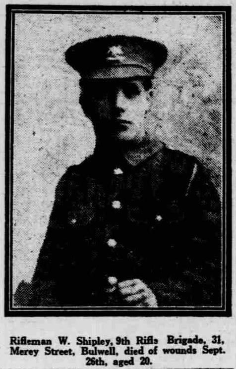 Published in the Nottingham Evening Post 24 December 1915.  Item courtesy of Jim Grundy, facebook pages 'Small Town Great War Hucknall 1914-1918'