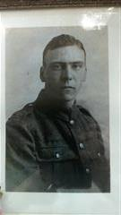 Photograph of John Samuel Ward in uniform, he was known as Jack, and lived at  24 Suez Street New Basford Nottingham.courtesy of Jill Sparrow